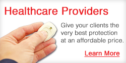 Health care referrals for medical alert service.
