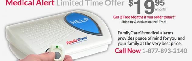 Family Care Medical Alarms Facebook banner.